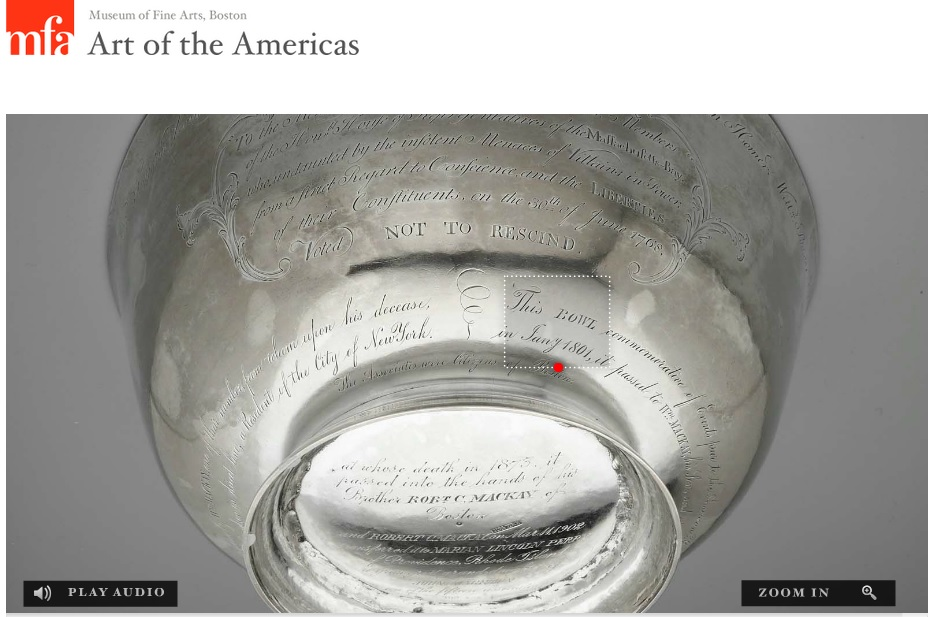 Click on Image to Listen to Audio of The Rescinders' Bowl - Museum of Fine Arts - Boston.