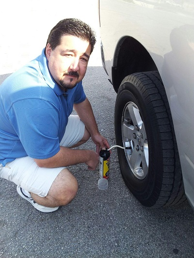 Not happy, but grateful to have fix-a-flat!