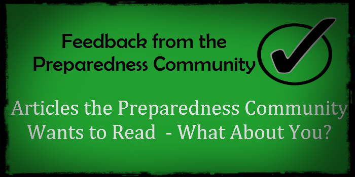 Articles the Preparedness Community Wants to Read – What About You?