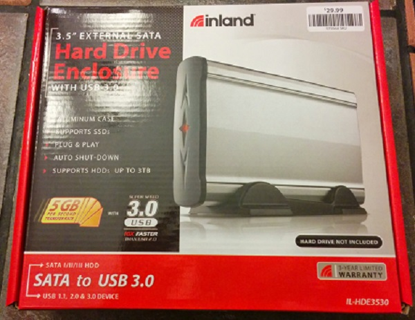 Inland Hard Drive Enclosure