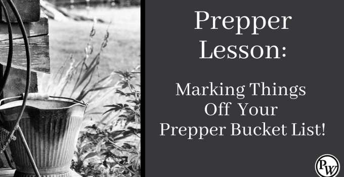 Prepper Bucket List