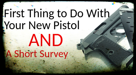 FIREARM: First Thing to Do With Your New Pistol and A Short Survey