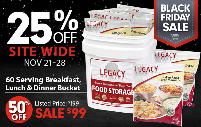 ... want to waste time making your own food bucket pick one up from Legacy Foods. They have great food buckets that will last many years u2013 CLICK HERE. & Prepper Gift List - Get Them What They Really Want!