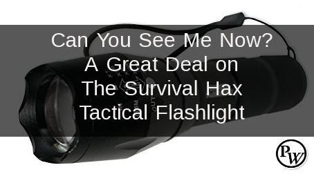 Can You See Me Now?  A Great Deal on a The Survival Hax Tactical Flashlight